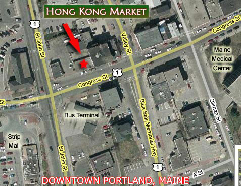 Satellite Map of Hong Kong Market by Google